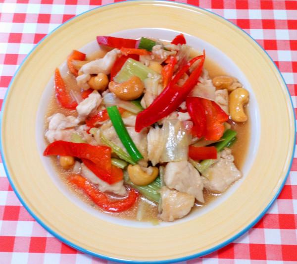 Salteado de pollo con anacardos – Gai Pad Med Ma-Muang